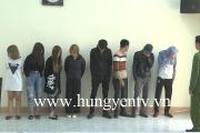 Bắt quả tang nhóm thanh niên phê ma túy  trong quán karaoke ở Phù Cừ