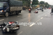 TP Hưng Yên: Hai xe máy va chạm, 2 người bị thương nặng