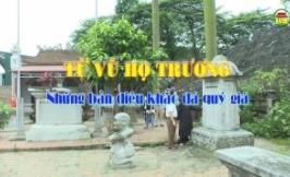 Từ Vũ họ Trương những bản điêu khắc đá quý giá