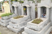 Nhiều ngôi mộ ở thôn Ông Tố, thị trấn Yên Mỹ bị phá hoại