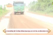 Xe chở vật liệu rơi vãi gây ô nhiễm môi trường