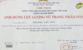 Liệt sỹ Trương Văn Tôn - Anh hùng liệt sỹ tuổi 12