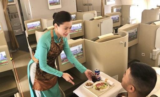 Nhãn lồng Hưng Yên trên các chuyến bay của Vietnam Airlines